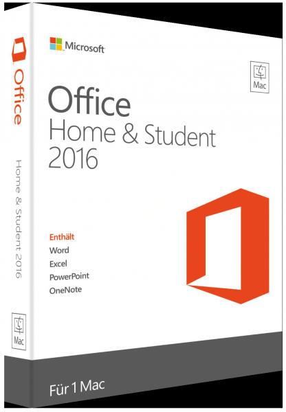 Office 2016 Home & Student für Mac